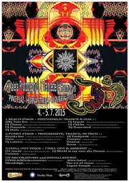 Party Flyer Enchanting Party Flyer C☮L☯URS ☮F SUMMER 44 IN☯UTD☯☮R Psytrance Party