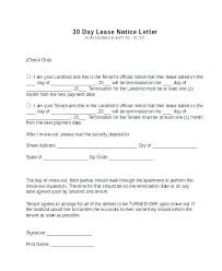 30 day termination letters formal resignation letter with days notice 30 day template lease