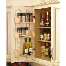 rev a shelf 25 in h x 13 125 in w x 4 in d medium cabinet door mount wood adjule 3 shelf e rack 4asr 18 the home depot