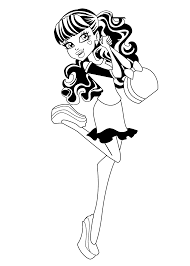 monster high coloring pages draculaura. Exellent Draculaura Draculaura Monster High Coloring Pages For Kids Printable Free For High Coloring Pages O