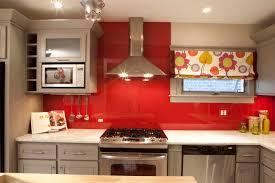 Red Kitchen Tile Backsplash Hood Kitchen Design Best Kitchen Furniture Stainless Steel