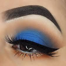 eyeshadows and gel l exotic makeup blue eye shadow blue glitter eye makeup