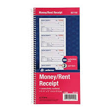 Rent Receipt Book Amazon Com