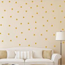 polka dot wall stickers gold decal kid vinyl