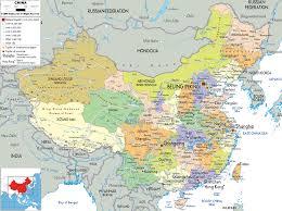 detailed political map of china  ezilon maps