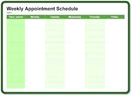 Weekly Appointment Calendar Excel Appointment Calendar Free Fine Weekly Template Gallery Resume Ideas