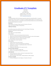 7 Graduate Student Cv Format Points Of Origins