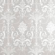 gray and white wallpaper | ... Room > Bedroom > Wallpaper > Josette White