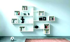 intersecting espresso wall shelf shelves cube transitional display and