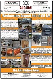 Mrs Avis Carlson, Held At Blocks Auction Center, Spicer MN, Wednesday  August 5th 2020, 10:00 AM - Ziemer Auctions