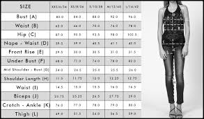 Leg Size Chart For Shoes Size Guide Religion Clothing