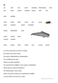 The sounds of consonants and short vowel sounds. V And W Words For Reading English Esl Worksheets For Distance Learning And Physical Classrooms