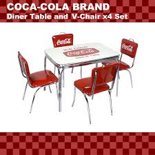 american diner coca cola brand coca cola brand dinner table v back chair 4 leg set pj 600dl pj 50hc 4