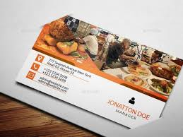 Fine Dining Restaurant Business Card Template 44492400692