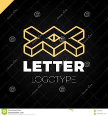 Double M Logo Design Two Or Double Isometric Letter X Logo Icon Design Template
