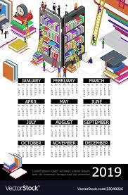 Online Education 2019 Year Calendar Template
