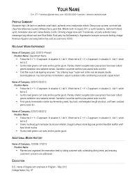 chronological resume simple flow