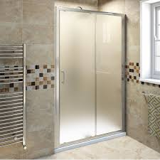 frosted shower doors. V6 Frosted Glass Sliding Shower Door 1200 - Now £149.99. Doors L