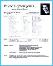 Resume For Actors Free Resume Example And Writing Download