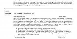 Sample Entry Level Pharmaceutical Sales Resume Sample ...