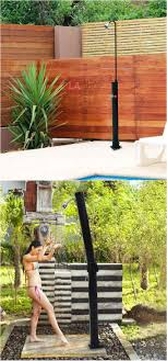 these outdoor solar showers with base can save a lot work if you can t wait to enjoy a hot shower outside