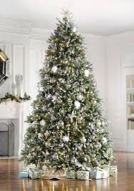 Fake Christmas Trees With Snow The Dunhill Fir Faux Christmas Tree Includes  Clear Lights, Snow, Red