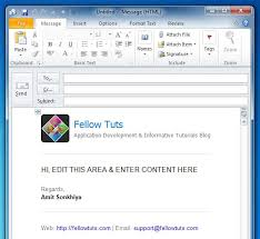 Template Email Outlook Outlook Html Email Templates Right Way To Add Configure