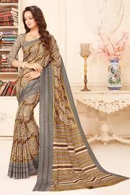 Kalaniketan Designer Sarees Art Silk Designer Saree In Beige With Print Designs