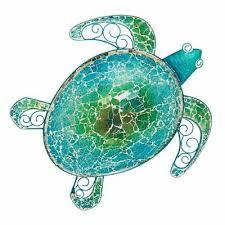 sea turtle metal wall art 3 piece beach
