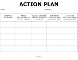 Action Plan Template Word Brrand Co