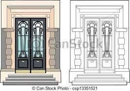 door of the mansion csp13351521