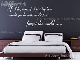 Bedroom Wall Quotes Beauteous Stunning Bedroom Wall Decals Quotes Amusing Designing Bed On Designs