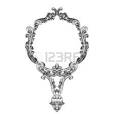 mirror frame drawing. Victorian Mirror Frame Imperial Baroque Vector French Luxury  Rich Intricate Drawing