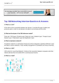 top networking interview questions answers
