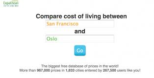 Expatistan Is A Cool Site That Compares The Cost Of Living