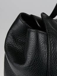 gucci black pebbled leather lady tassel tote bag