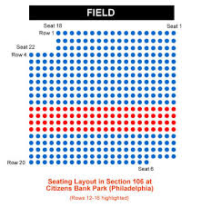 Phillies Seating Chart Diamond Club Philadelphia Phillies Citizens Bank Park Seating Chart
