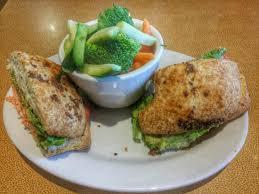 jason s deli salmon sandwich with steamed veggies