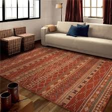 Red Living Room Rug 3830 5x8 Orian Rugs 3830 5x8 Bright Color Medallion Zemmour Red