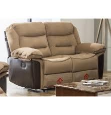 fabric recliner sofa. Bruno Fabric Recliner Sofa 2 Seater - Beige Grey