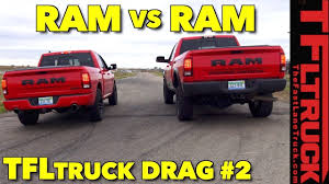 Which one is Faster? Ram 1500 vs Power Wagon HEMI Drag Race