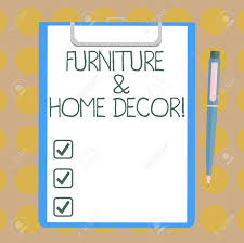 Interior Design Concept Paper Word Writing Text Furniture And Home Decor Business Concept