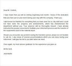 congratulations on your retirement letter letter of retirement