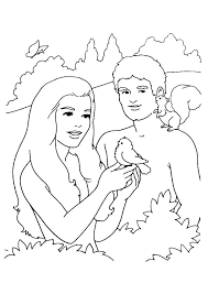 Adam And Eve Coloring Page Eve Coloring Pages Page For Kids Bible
