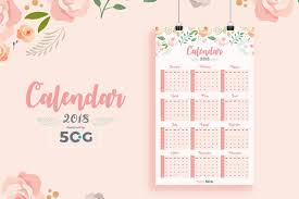 Calender Design Template Free One Page 2018 Printable Wall Calendar Design Template