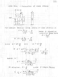 derivation of equation for gage strain