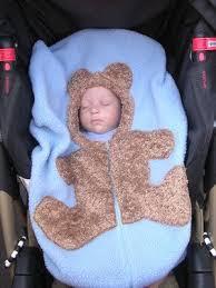 bear baby car seat cover on medium