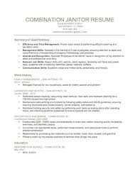 Janitor Resume Sample Recent Maintenance Cover Letter Example 233