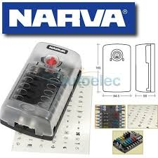 narva 12 way fuse block box holder ats blade caravan dual battery caravan fuse box remove narva 12 way fuse block box holder ats blade caravan dual battery 12v new 54450