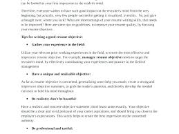 Tips On Writing Resume Resume Objective Summary Examples Resume Objective Tips Career 61